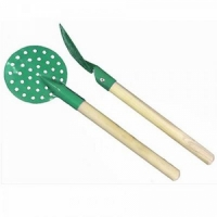 Черпак SPIKE, металлический с деревянной ручкой (зелёный) (11-03) (Россия)