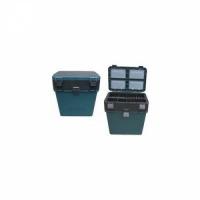Ящик зимний пластиковый, В38*Ш36*Г24, 18л, с мягк.сиденьем, t до -40С, до 100 кг, цв.зеленый,(6)