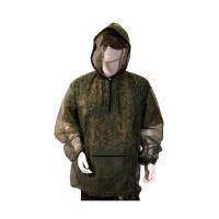 Куртка антимоскитная (сетка), цвет - зелёный, с капюшоном, размер L