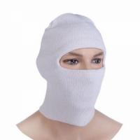 Маска-шлем, вязаная, 1 отверстие, цвет белый (2226382)