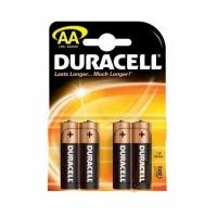 Элемент питания DURACELL LR06, MN1500 (4 батарейки в блистере) (20) (AA (пальч.))