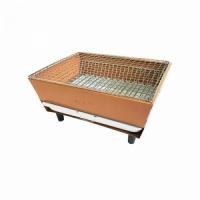 Мангал HOME COOK, 28,5*22,5 см, с решёткой для барбекю, 2 уровня, цв. оранж. (JJKL - 002)