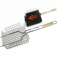 Решетка для барбекю ГЛУБОКАЯ, малая, покрытие эмаль, 260*235*60мм (СП0304)