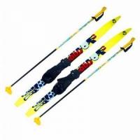 Комплекты лыжные МАЯК BLAZZER детские, дерево (лыжи+палки+крепление п/жесткое) 110см., цв. в ассорт.