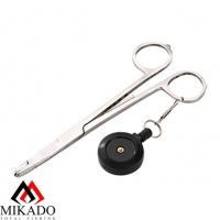 Зажим рыболовный Mikado прямой с ретривером AI-0438A