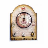 Сувенир часы-вешалка НА РЫБАЛКЕ (5026-6), настенные, 37,5*27 см.,