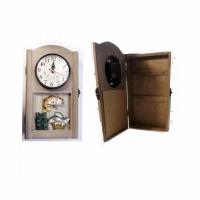 Сувенир-ключница с часами УЛОВ, настенная 30*16,5 см.