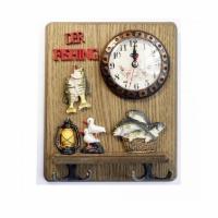 Сувенир часы-вешалка УЛОВ (CX-804), настенные, 18*21.5 см.,