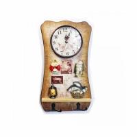 Сувенир часы-вешалка БОЛЬШОЙ УЛОВ (25-4), настенные, 31,5*17.5 см.,