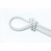 Веревка крученая EXTRA PA, 20 м, 2,7 мм, тест 180 кгс, белая, еврокарточка