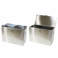 Ящик зимний РОСТ рыбацкий 40x19x29, 22л, нерж. сталь 0,5мм (Рыбинск) арт. 6-01-0103