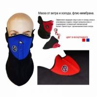 Маска-защита от ветра и холода X-PORTS, мат. флис-мембрана, цвет черный с синим