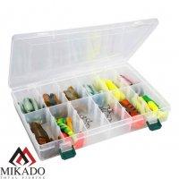 Набор силиконовых приманок Mikado Zander & Perch (виброхв.70мм - 40шт., джиг - 6шт.)