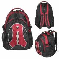 Рюкзак CALIFORNIA PAK 30л, В43*Ш30*Г20, усил. спинка, цвет черн./красный (BOREN-4)