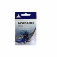 Крючки ACADEMIC Iseama №8, серия U001, carbon, цв. никель (10шт/пак)