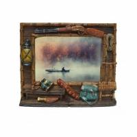 Фото-рамка керамическая Охотник, настольная, размер 20х17 см , для фото 10 Х 15 см