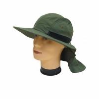Шляпа с защитой от ветра и солнца, с регулятором и вент. отв., тк. полиэст., цв. ХАКИ