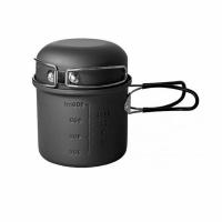 Набор посуды анодир. алюм.(котелок 0,9л + кружка 340мл), склад. ручки, в чехле, CW-S05 (12)