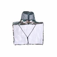 Шляпа Сафари, летняя, с ветро-солнце защитой, цв. КМФ зелен.-белый  (JP11(1-2))