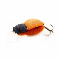 Воблер ЖУК Гигант, плавающий, окрас под натурального жука, цв. 01 (тройник)