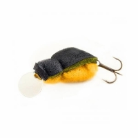 Воблер ЖУК Гигант, плавающий, окрас под натурального жука, цв. 02 (тройник)