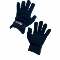 Перчатки SPORT, ткань двойной флис, фиксатор на запястье, цвет синий