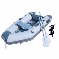 Лодка BESTWAY CASPIAN 230*137*37см, жестк.пайол/транец (до 10лс), весла, р.нас, до 260кг, 49кг
