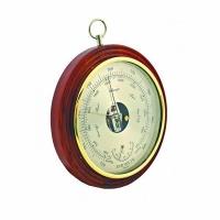 Барометр БРИГ+ ПБ-8/2 2в1 - встроенный термометр, d 240мм, корпус дерево