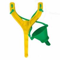 Рогатка LINEA EFFE для заброса прикормки, круглая, эластичная, цвет желтый/зеленый (8350050) Италия