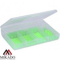 Набор бусин Mikado SURFCAST в коробке (зелёный-FLUO), шар 4,5,6,7,8мм (250 шт.)