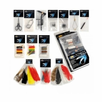 Набор для вязания нахлыстовых приманок LINEA EFFE, ножницы, щипцы, захват, нитки, перья (5030013)