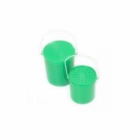 Ведро для хранения живой наживки, d-8см., высота 9,5см.,, круглое, с ручкой, цв. зеленый (HS-050)