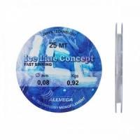 Леска зимняя ALLVEGA Ice Line Concept 25м, 0.08мм, 0.92кг, цвет- прозрачная (LILC2508)