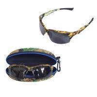 Очки для рыбалки, поляризационные линзы черные, оправа камуфляж (K605)