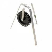 Жерлица трехногая, катушка d 90мм, с флажком, алюминий (Россия)