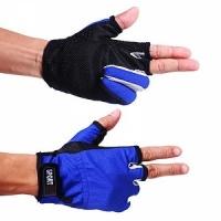 Перчатки SPORT, рыболовные, ладонь Anti-slip, цв. син.-черные