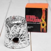 Свеча Огонь Лебедева, 7*7*7,8 см., пламя - 0,2м., горит 2 ч. (Россия) (1232455)