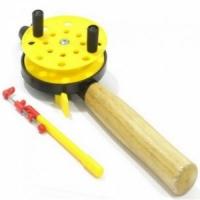 Удочка зимняя HFB-6М-1, 37см, d75мм., с деревянной ручкой, с курком, шт.