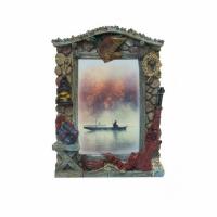 Фото-рамка керамическая Утиная охота, настольная, размер 22х15,5, для фото 10 х 15см