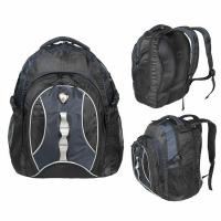 Рюкзак CALIFORNIA PAK 30л, В43*Ш30*Г20, усил. спинка, цвет черн./синий (BOREN-4)