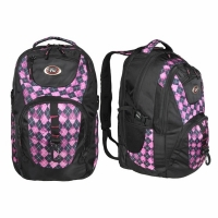 Рюкзак CALIFORNIA PAK 46л, В45*Ш33*Г30, усил. спинка, цвет черн./розовая клетка (BOREN-5)
