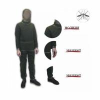 Костюм антимоскитный (сетка), куртка-накидка, брюки, цвет - зеленый/лес, с капюшоном, без размера