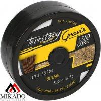 Лидкор Mikado GRAVIS LEADCORE brown 25 lb (10 м)