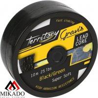 Лидкор Mikado GRAVIS LEADCORE black/green 25 lb (10 м)