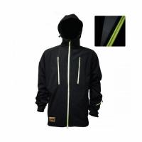 Куртка CAIMAN демисезонная, ВВЗ, подкл. флис, капюшон, цв. черный, размер XXL (JH-01)