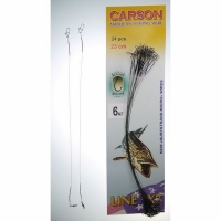 Поводок CARSON оснащенный, нейлон, 25 см, 10 кг