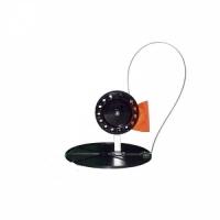 Жерлица на подставке d 180мм, катушка d 90мм, флажок, неоснащен., цв. черный (45488) (2 шт/уп)