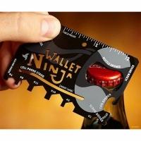 Мультитул WALLET NINJA 16 в 1,6 ключей,4 ножа,4 отвертки,2 линейки,овощечистка,подст. для тел. (008)