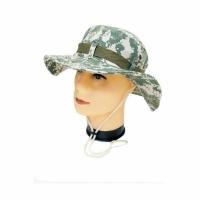 Шляпа SC, цв. пиксель, ткань полиэст., хлопок, регулир. шнурок, вентиляц. отв.