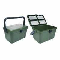Ящик зимний HS-318, пластик. рыболовн, В39*Ш24*Г24, 22л, с ручкой, t до -40, до 120кг (15)